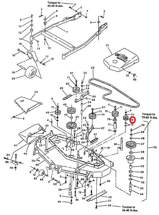 Exmark 1-601806 EOM KIT-IDLER PULLEY Turf Ranger Turf Tracer Hydro