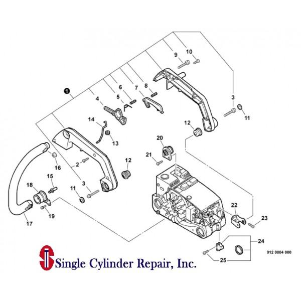 Echo 35110039130, 35110039131 Handle Kit CS-3000