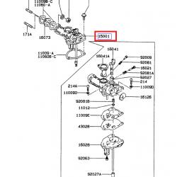 Kawasaki 15001-2961 OEM Carburetor