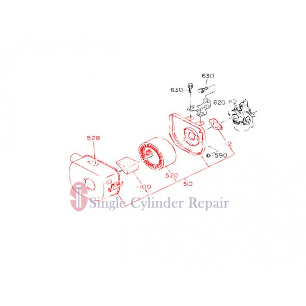 MULTIQUIP 1613270310 AIR CLEANER ASSY