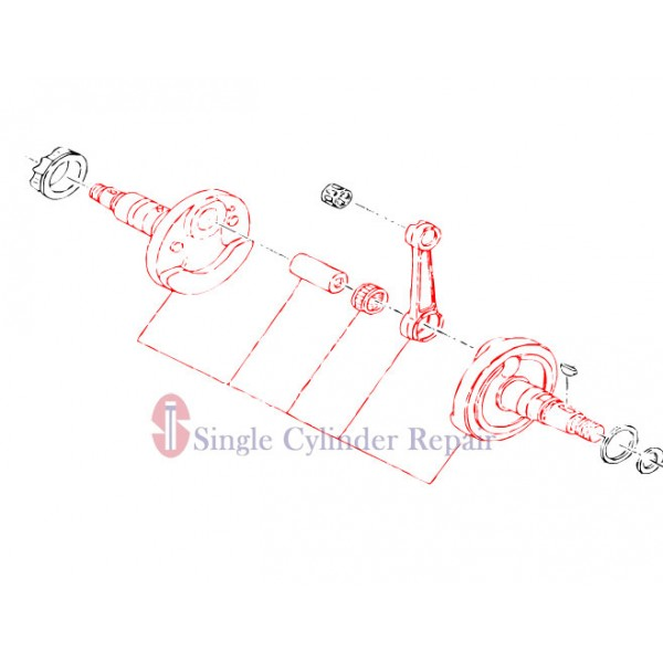 MULTIQUIP 1612040110 CRANK SHAFT ASSY