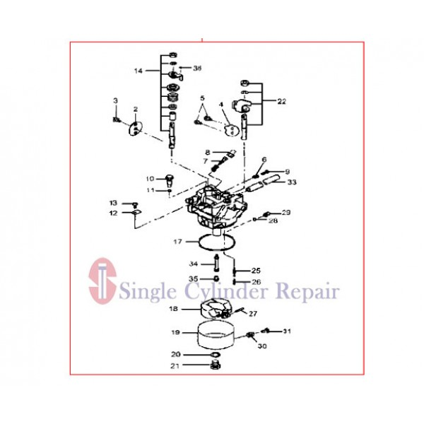 MULTIQUIP 5806111000 CARBURETOR ASSY