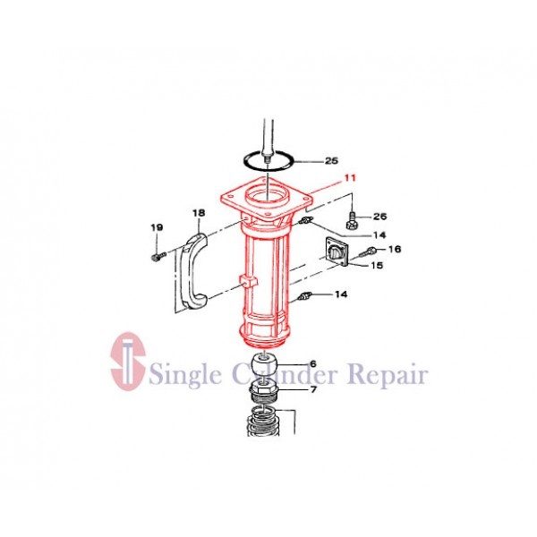 MULTIQUIP 305112730 GUIDE CYLINDER