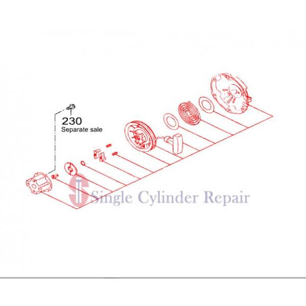 MULTIQUIP 2845021130 RECOIL STARTER ASSY