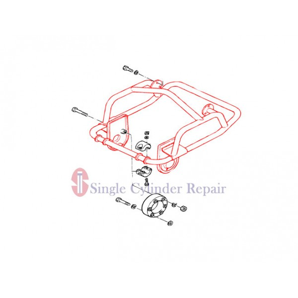 MULTIQUIP 303910100 HANDLE ASSY WITH ROLLERS