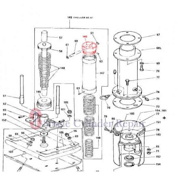 Multiquip 301300136 Cylinder Cap (Top)