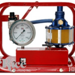 Rice Hydro HP-20 Hydrostatic Plunger Test Pump 2000 to 20,000 PSI, Plunger Pump, Pneumatic