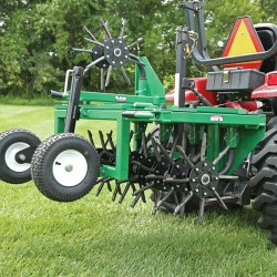 "Billy Goat AET60 Aerator 36"" 48"" 60"" Tow Behind Aerator With Folding Wings"