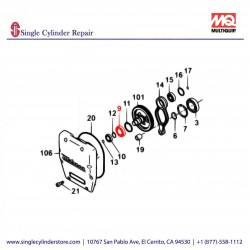 Multiquip 040006207Bearing 6207 DR65/EH34 MT-70,10G/A
