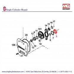 Multiquip 041006007 Bearing 6007ZEC3 MTR-55,MT-60H,MTR-35W