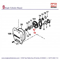 Multiquip 047940060Needle Bearing MTX 70