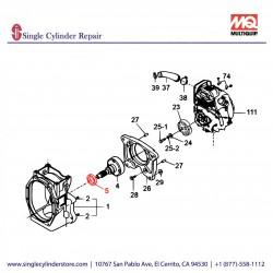 Multiquip 060404010 Seal Oil MT-60H,70