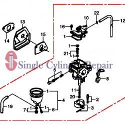 Multiquip 16100Z4EW51 Carburetor Assy for MTX70 MTX60HF