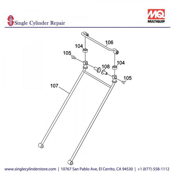 Multiquip 416910120 HANDLE ASSY. MVC88VTH/VTHW