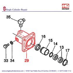 Multiquip 463342090 Cylinder DNO MVHR-60H