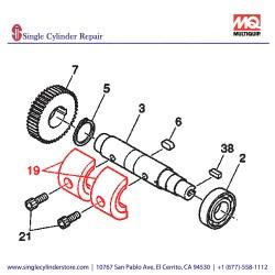 Multiquip 463455910 Eccentric Rotator Drive MVHR-60H