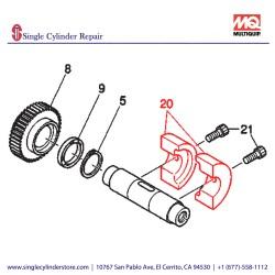 Multiquip 463455920 Eccentric Rotator Driven MVHR-60H