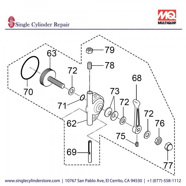 Multiquip 466910050 Throttle Lever Assy. MVH208GH