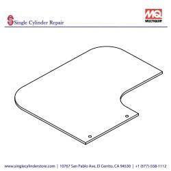 Multiquip 467466800 RUBBER COVER, UPPER MVH408GH