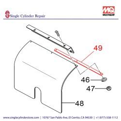 Multiquip 467466920 STOPPER, RUB-PLATE MVH508DZ