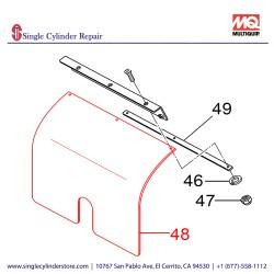 Multiquip 467466930 RUBBER PLATE, BATTERY MVH508DZ