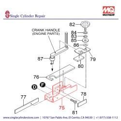Multiquip 469219120 HOLDER, CRANK HANDLE MVH508DZ