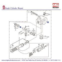Multiquip 469219180 HAND PUMP MVH508DZ