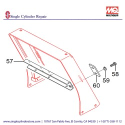 Multiquip 469219330 CENTER COVER MVH508DZ
