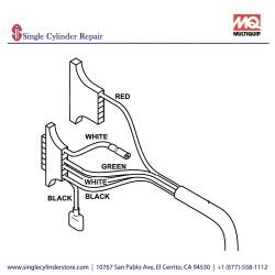 Multiquip 469352350 WIRE HARNESS MVH508DZ