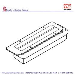 Multiquip 470219530 Dust cover, MVH208GH