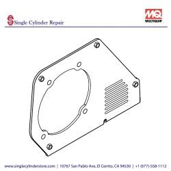 Multiquip 470353680 Belt Cover Inner, MVH208GH