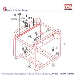 Multiquip 7935400302 Frame Pipe GA-2.5H