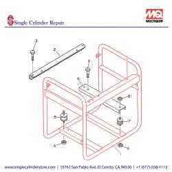 Multiquip 7935400402 Frame Pipe GA-2.3R2