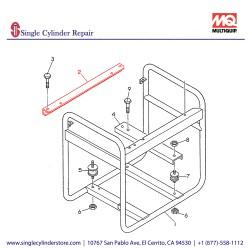 Multiquip 7935410403 Bracket GA 2.3 R2