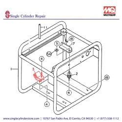 Multiquip 7935416004 Suspension Rubber GA-2.9R/4.5R