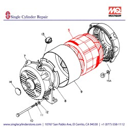 Multiquip 7931341603 Armature Assembly GA-2.3R