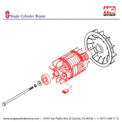 Multiquip A6110200103 Rotor Assy GA-97HZ