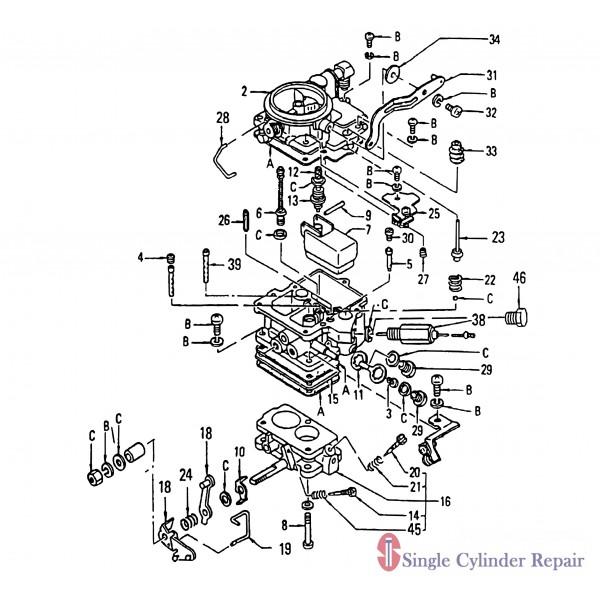 Multiquip Carburetor A-15 C30Hdn 16010K4970
