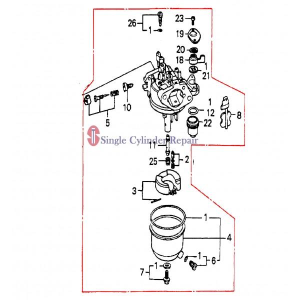 Multiquip Carburetor Gx160K1Qxc9 16100ZH8V21