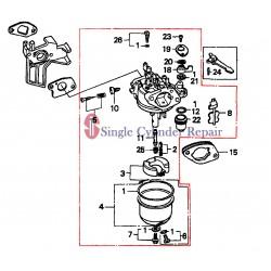 Multiquip Carburetor (Be64Fb) Gx200Qxc9 H-5148093 16100ZL0V21