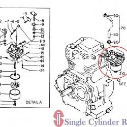 Multiquip Carburetor Eh25 Ga-3.6Rz/Rz3 2546255210