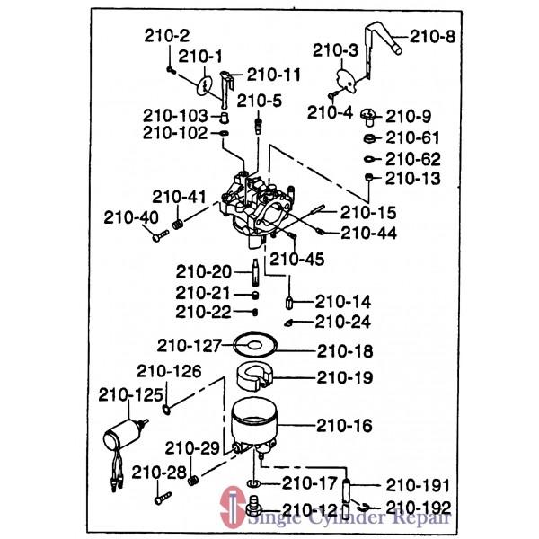 Multiquip Carburetor Ay Eh36 2666231100