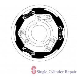 Multiquip 11994 Clutch, F74H-3080 X 1-7/16