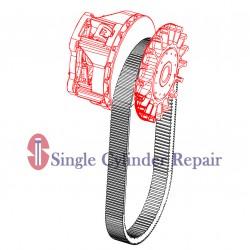 Multiquip 23363-1 Clutch,Cvt Drive W/Taper-Hil#7150-01-018
