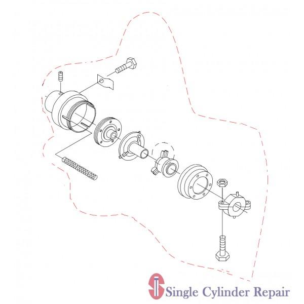 Multiquip Clutch Assembly 04-037662 EM934022