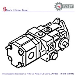 Wacker Hydraulic pump, Drive 5000111062