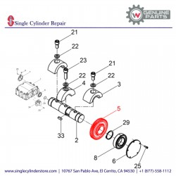 Wacker 5000039116 Gear wheel