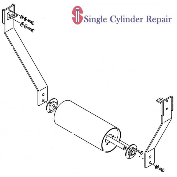 Wacker Neuson 5000080163 Kit-Roller Support (Rs800A Only)