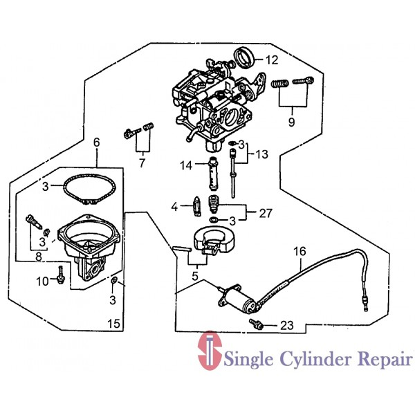 Wacker Neuson 5000213348 Carburetor Cpl.