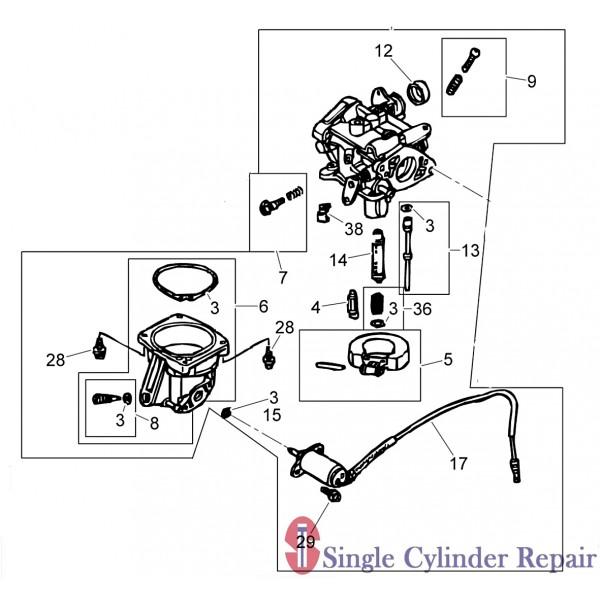 Wacker Neuson 5000212758 Carburetor Assembly